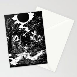 XIII - Death Card (Shadow Light Tarot) Stationery Cards
