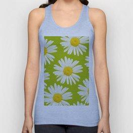 Daisies on a vivid green background - #Society6 #buyart Unisex Tank Top