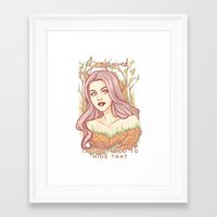 daunt Framed Art Prints featuring I survived by Daunt