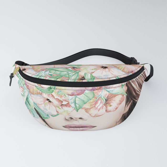 She Wore Flowers in Her Hair Island Dreams Fanny Pack