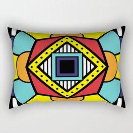 African Inspired Geometric Design Rectangular Pillow