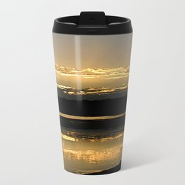 Sunsetting on a golden Pond Travel Mug