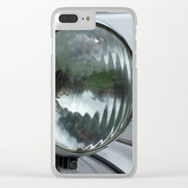 Elegance - Silver And Chrome Clear iPhone Case