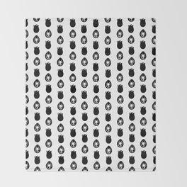 Alien Eggs Pattern White and Black Throw Blanket