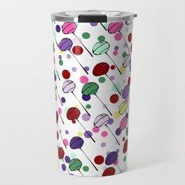 lolly pops - dots - white Travel Mug