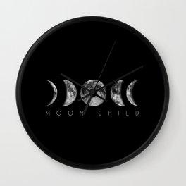 Moon Child Moon Phases Wall Clock