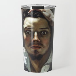 Gustave Courbet-The Desperate Man Travel Mug