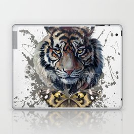 Tiger and Butterfly Laptop & iPad Skin