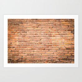 Abstract Brick Wall Art Print