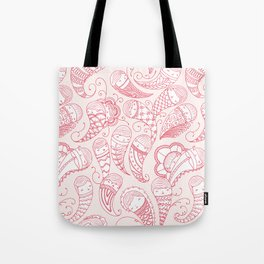 Ghostly Paisley: Bloodlust Tote Bag