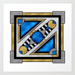 Boxball - Art Deco Design Art Print