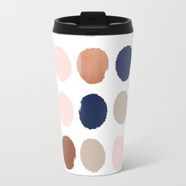 Polka dots abstract minimalist painting bronze copper gold metallic dot Travel Mug