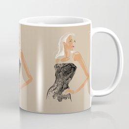 Black Lace Coffee Mug