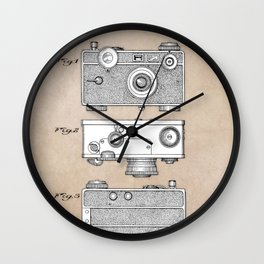patent photographic camera 1938 Wall Clock