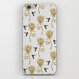 Hummingbird & Flower I iPhone Skin