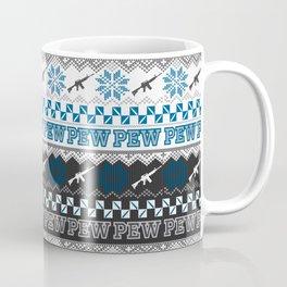 Pew Pew Gun Ugly Christmas Sweater Pattern Coffee Mug