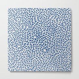 Organic Seeds / Blue Metal Print