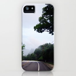 Green Mountain Road Trip iPhone Case