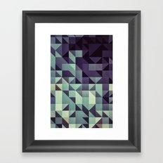 :: geometric maze :: Framed Art Print