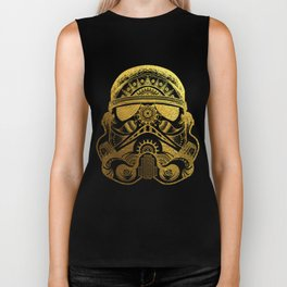 Mandala StormTrooper - Gold Foil Biker Tank