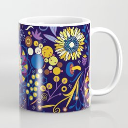 Ripe autumn – purple and yellow Coffee Mug