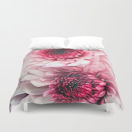 Pink asters Duvet Cover