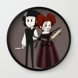 Sweeney Todd & Mrs. Lovett Wall Clock