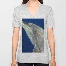 Bottlenose dolphin portrait Unisex V-Neck