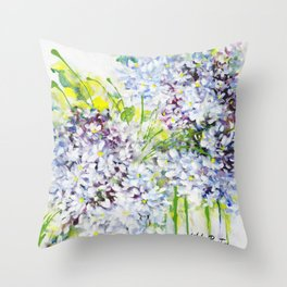 Pretty Lilies Throw Pillow