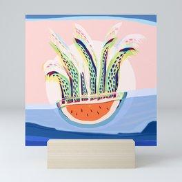 Plant Sun Watermelon Rain Jellyfish Mutants Sequence 4 Mini Art Print