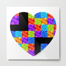Love Colors The Heart by Sharon Cummings Metal Print