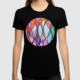 Purple & Peach Love - abstract painting in rainbow pastels T-shirt