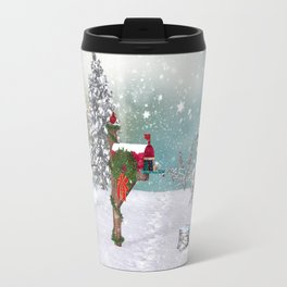 Seasons Mailbox Winter Travel Mug