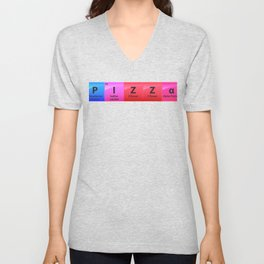 Pizza Periodic Table Of Elements Gift Unisex V-Neck