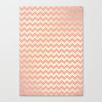 peach Canvas Prints featuring Peach by C Designz