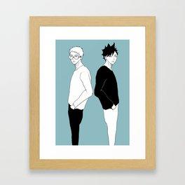 Haikyuu!! - Kurotsuki 8 Framed Art Print