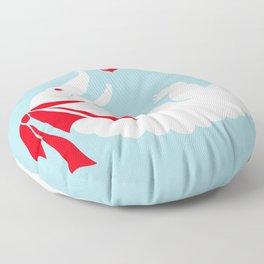 White alligator Floor Pillow
