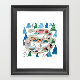 The Kind Snake Framed Art Print