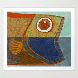 Cabeça de Peixe Art Print