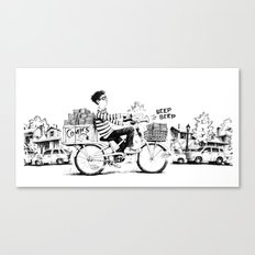 Comics Carrier Canvas Print