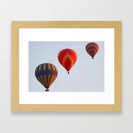Hot air balloons launching at dawn Framed Art Print