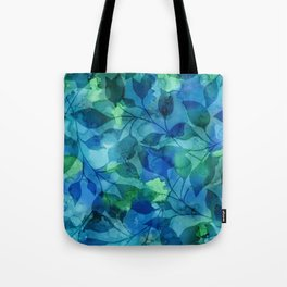 Alcohol Ink Leaves Tote Bag