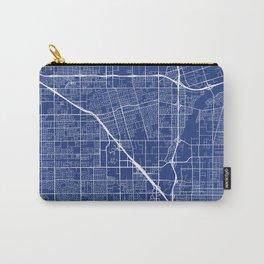 Anaheim Map, USA - Blue Carry-All Pouch