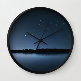 Lacerta star constellation, Night sky, Cluster of stars, Deep space, Lizard constellation Wall Clock
