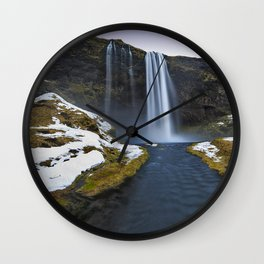 Seljalandsfoss Wall Clock