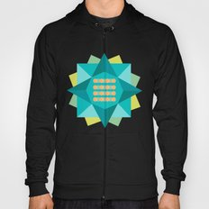 Abstract Lotus Flower - Yoga Print Hoody