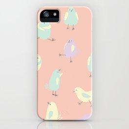 Pastel Pigeons iPhone Case