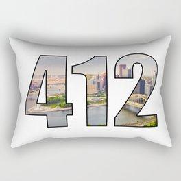412 (Pittsburgh Area Code) Rectangular Pillow