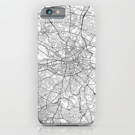 Dublin Map White iPhone Case