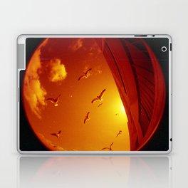 Birds In The Orange Sky Laptop & iPad Skin